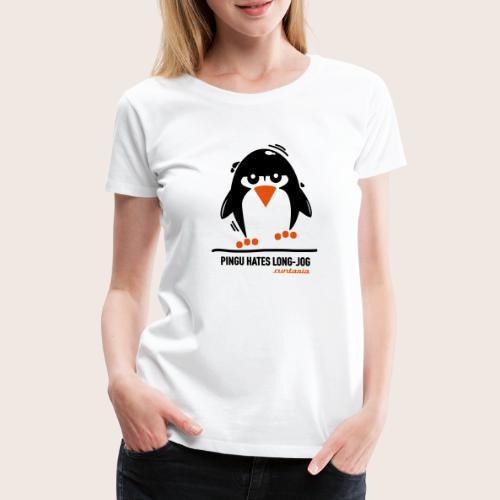 Pingu hates long jog 1 - Frauen Premium T-Shirt