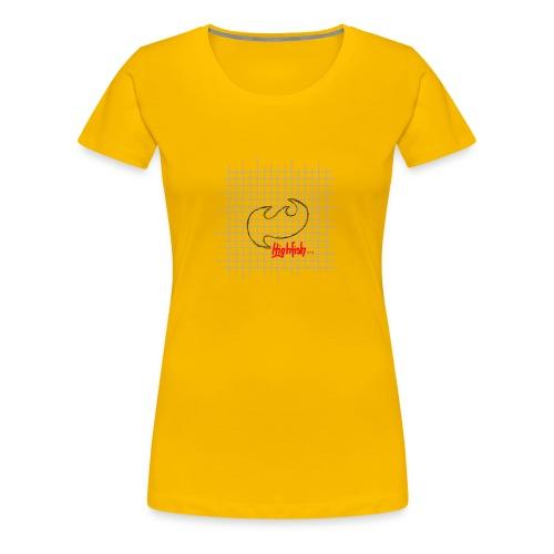 Highfish paper - Frauen Premium T-Shirt