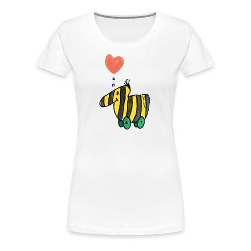 Janoschs Tigerente mit Herz - Frauen Premium T-Shirt