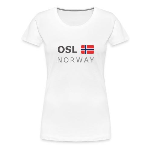 OSL NORWAY dark-lettered 400 dpi - Women's Premium T-Shirt