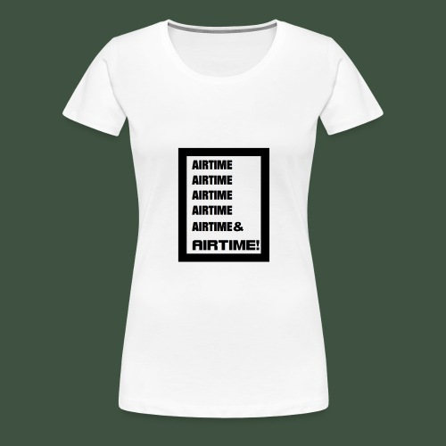 Airtime Logo schwarz auf weiss - Frauen Premium T-Shirt