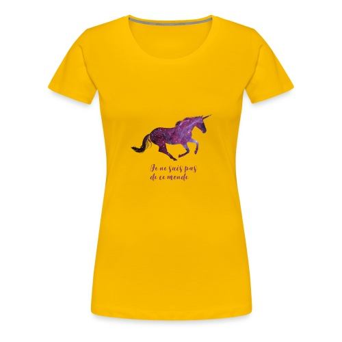 La licorne cosmique - T-shirt Premium Femme