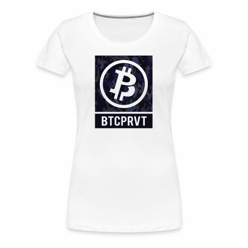 BTCPRVT Digital Camo Merchandise - Women's Premium T-Shirt
