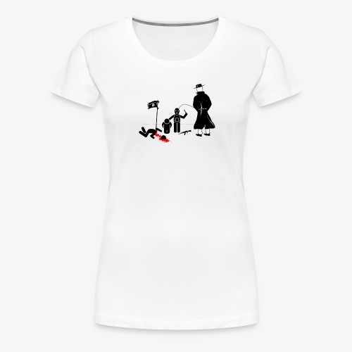 Pissing Man against terrorism - Frauen Premium T-Shirt