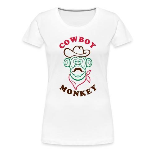Cowboy monkey - T-shirt Premium Femme