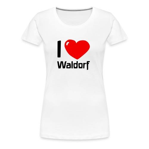 I love Waldorf - Frauen Premium T-Shirt