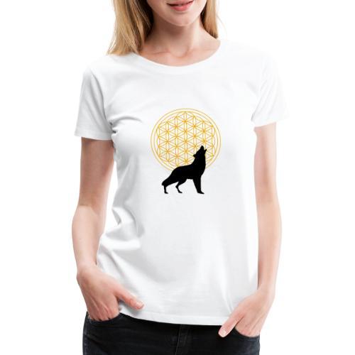 fleur de vie loup n°2 - T-shirt Premium Femme