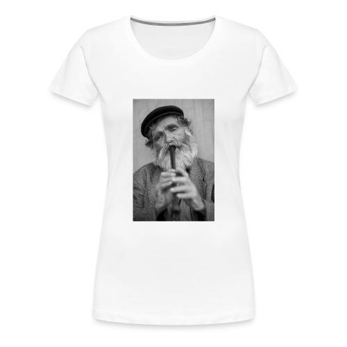 Flötenspieler Logo - Frauen Premium T-Shirt