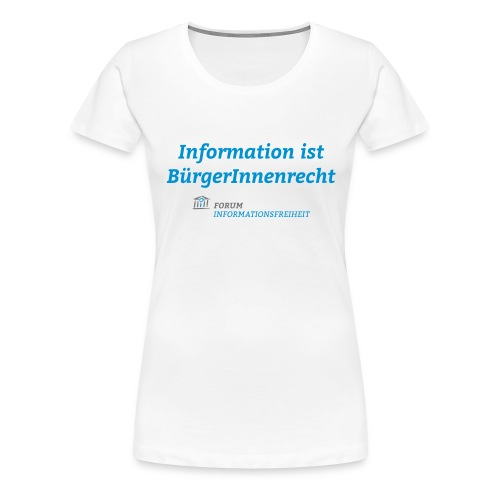 Logo Forum Informationsfreiheit - Frauen Premium T-Shirt