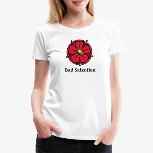 Lippische Rose mit Unterschrift Bad Salzuflen - Frauen Premium T-Shirt