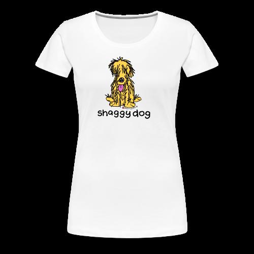 shaggy dog bang on the door - Women's Premium T-Shirt