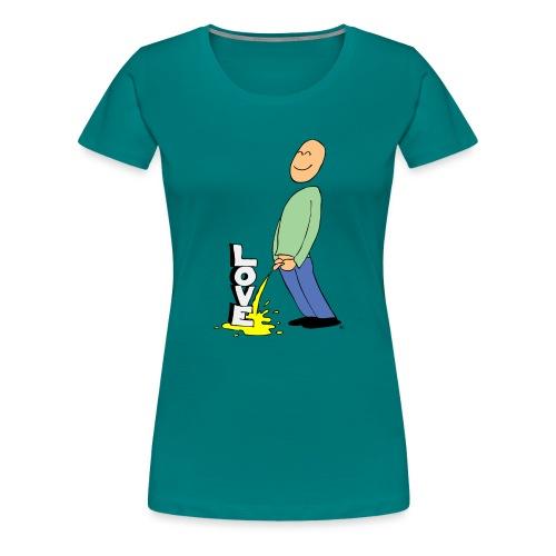 tissekopp farge - Premium T-skjorte for kvinner