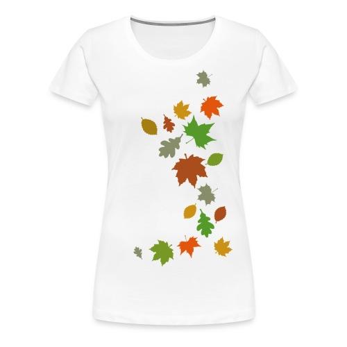 Herbstlaub maple leaf Ahorn Eiche Silhouette - Women's Premium T-Shirt