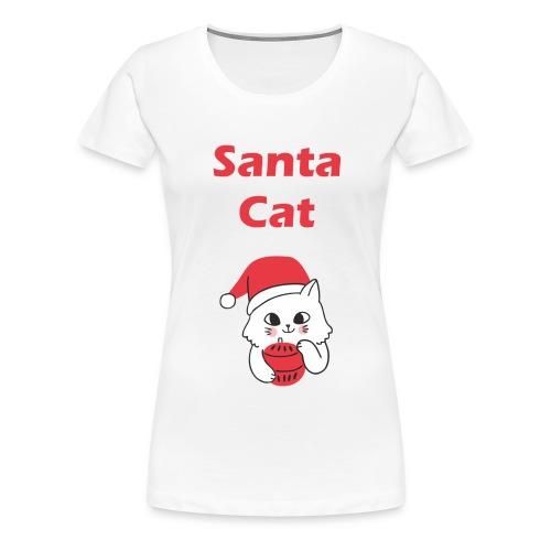 Weihnachts T-Shirt Katzen | Santa Cat | Geschenk - Frauen Premium T-Shirt