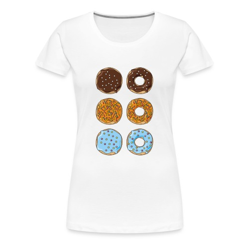 brown,orange and blue donuts - Women's Premium T-Shirt