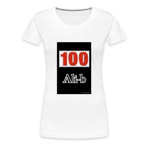 Limited edition Ali-b 100 subscribes merchandise - Women's Premium T-Shirt