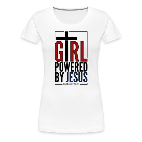 Girl powered by Jesus - Premium-T-shirt dam