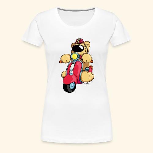 Der Bär fährt Roller - Frauen Premium T-Shirt