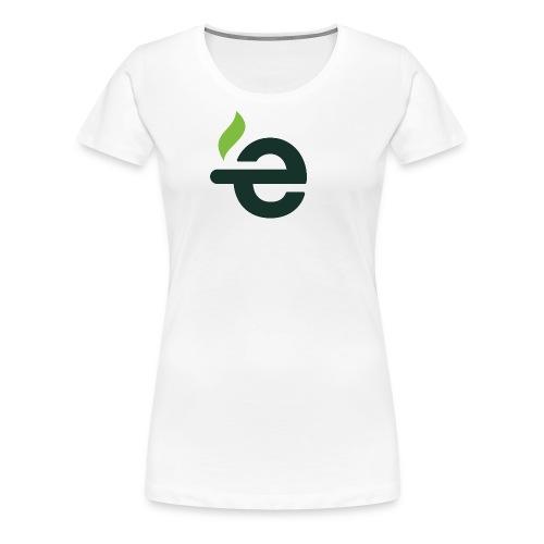 E logo - Vrouwen Premium T-shirt