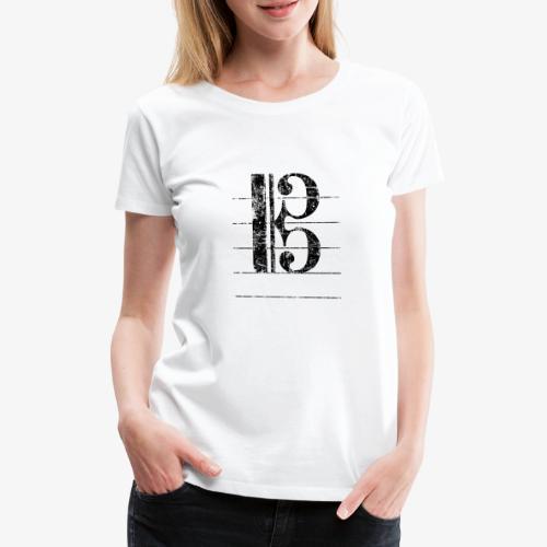 Tenorschlüssel - Notenschlüssel Cello / Posaune - Frauen Premium T-Shirt