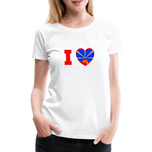 I love 974 - Lo Mahaveli - T-shirt Premium Femme