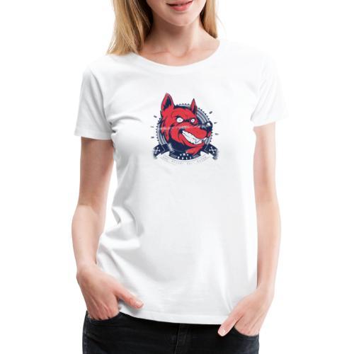Wolf grin - Frauen Premium T-Shirt
