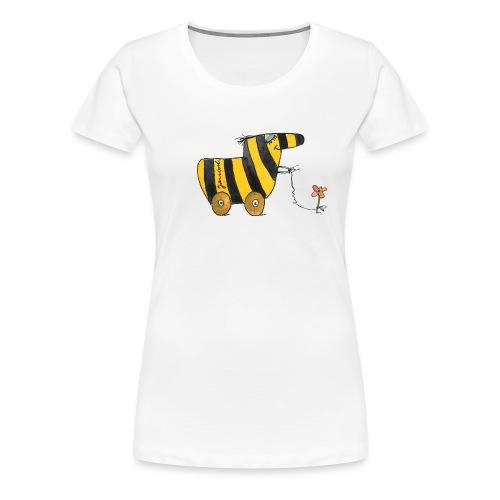 Janoschs Tigerente mit Blume - Frauen Premium T-Shirt