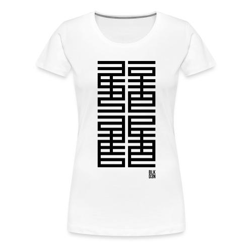 BLK D3N 013 - Women's Premium T-Shirt