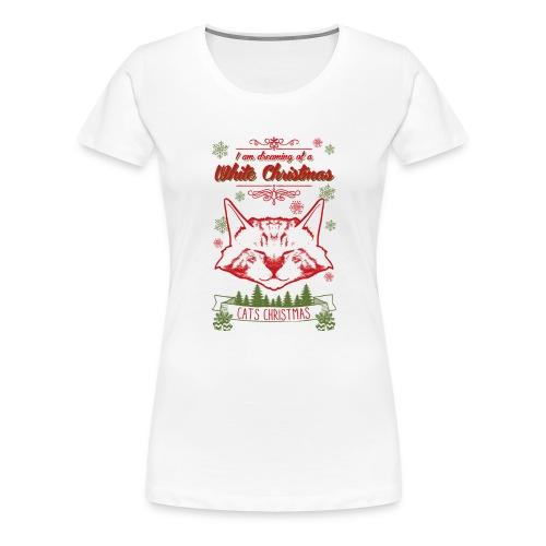 Weihnachtskatze - Frauen Premium T-Shirt