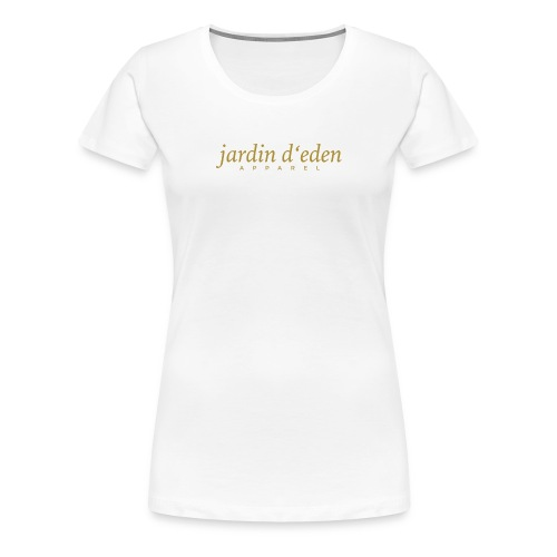 Jardin d'Eden Promotion Gold - Frauen Premium T-Shirt