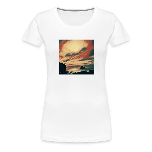 Cornwall Beach - Women's Premium T-Shirt