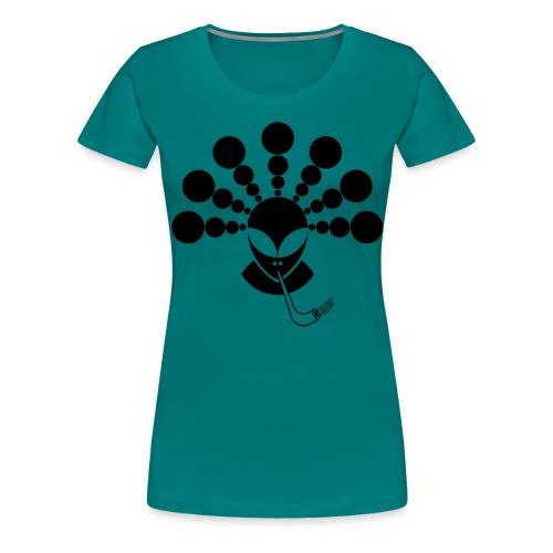 The Smoking Alien Black - Women's Premium T-Shirt