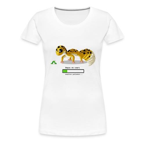 Gecko feeding time - T-shirt Premium Femme
