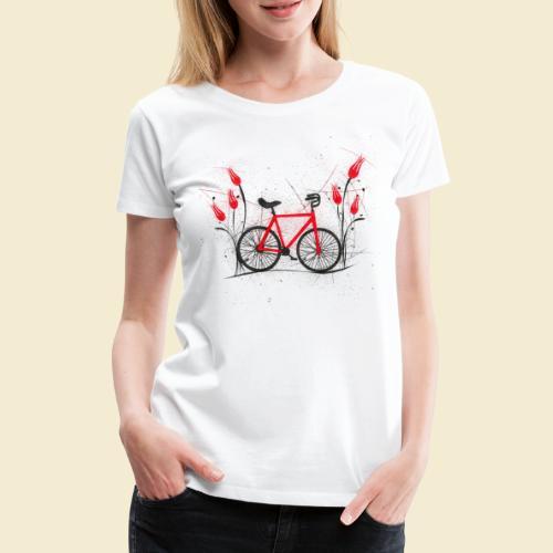 Kunstrad | Flower Power 2 - Frauen Premium T-Shirt
