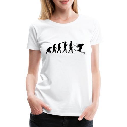 Evolution Skifahrer - Frauen Premium T-Shirt