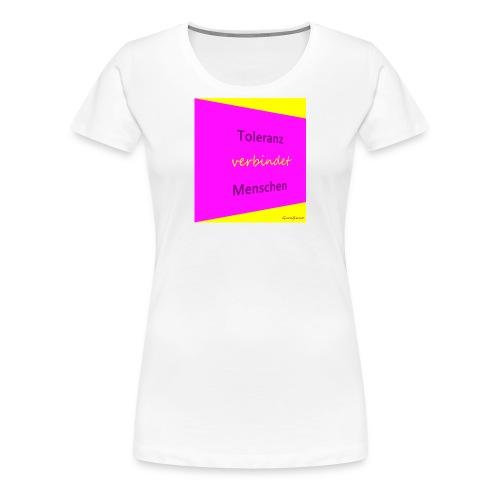 Toleranz rosa schraeg.JPG - Frauen Premium T-Shirt