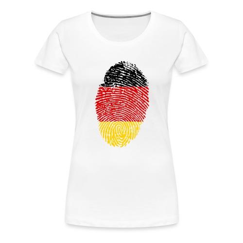 GERMANY FINGERPRINT - Women's Premium T-Shirt