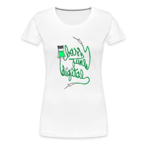 BASS JUNK DIGITAL ZIPPED HOODIE - Vrouwen Premium T-shirt