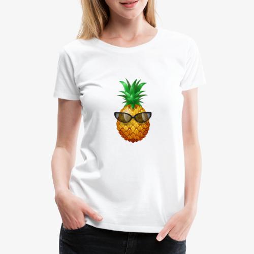 Pineapple With Sunglasses - Women's Premium T-Shirt