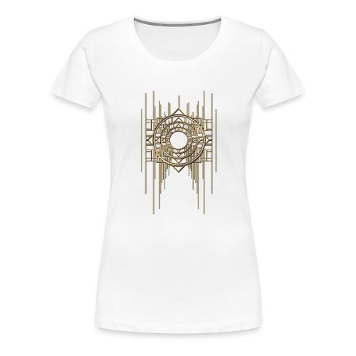 Abstract Geometry Gold Metal Art Deco Vintage - Women's Premium T-Shirt