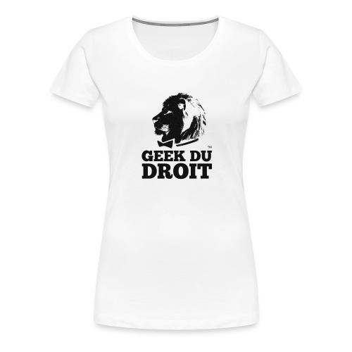 logoliongeektoile noir - T-shirt Premium Femme