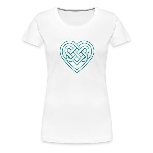 Keltisches Herz, Endlos Knoten, Liebe & Treue - Frauen Premium T-Shirt