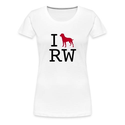 iloverottweil - Frauen Premium T-Shirt