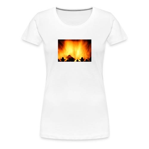 peat fire burning - Women's Premium T-Shirt