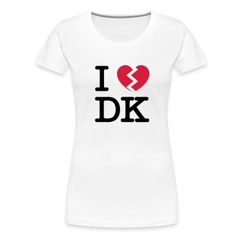 i broken heart dk - Dame premium T-shirt