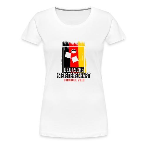 Deutsche Meisterschaft 2018 Cornhole - Logo - Frauen Premium T-Shirt