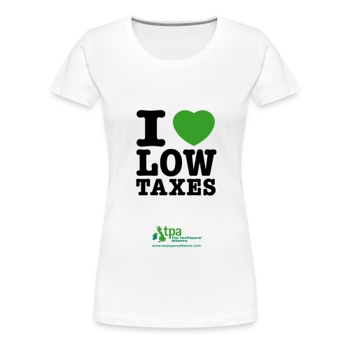 i love low taxes cmyk 2 spots 2 - Women's Premium T-Shirt