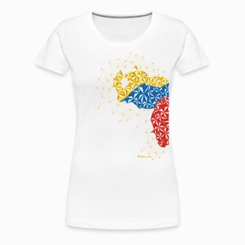 Venezuela en el Pecho - Camiseta premium mujer