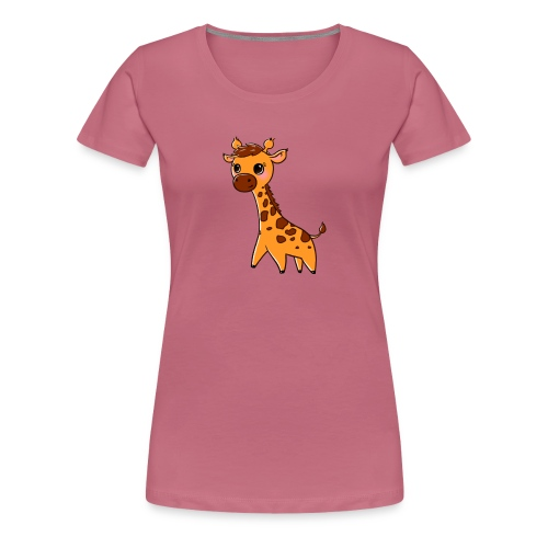 Mini Giraffe - Women's Premium T-Shirt