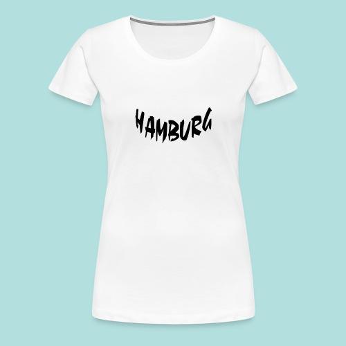 Hamburg Schwarz bogen unten - Frauen Premium T-Shirt